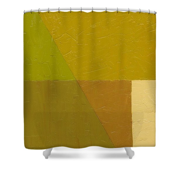 Pea Soup and Cream Shower Curtain by Michelle Calkins