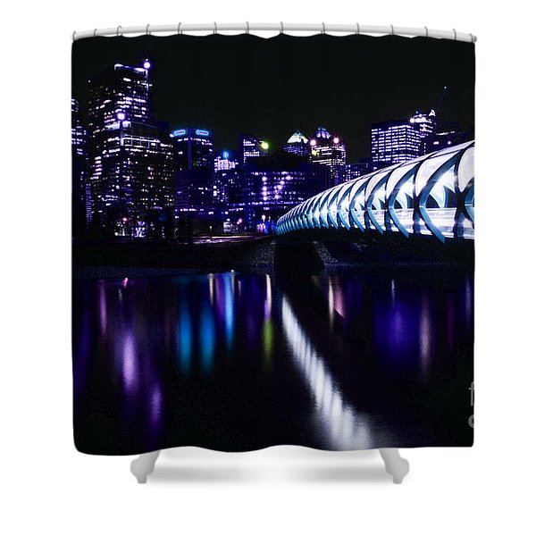 Peace Bridge Feeling The Blues Shower Curtain by Bob Christopher