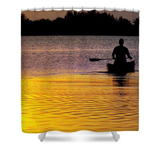 Peace Of Mind Shower Curtain by Karen Wiles