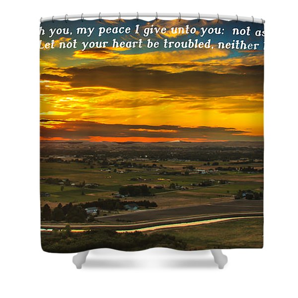 Peace Shower Curtain by Robert Bales