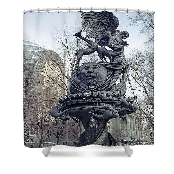 PEACE SCULPTURE in NEW YORK Shower Curtain by Daniel Hagerman
