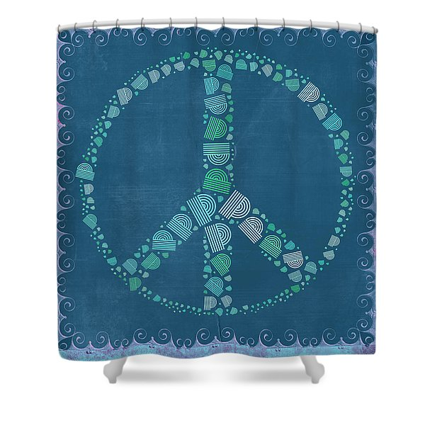 Peace Symbol Design - tq19at02 Shower Curtain by Variance Collections