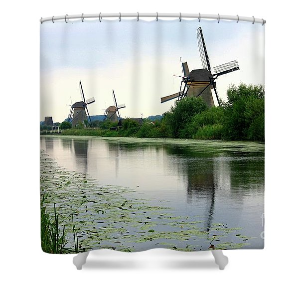 Peaceful Dutch Canal Shower Curtain by Carol Groenen