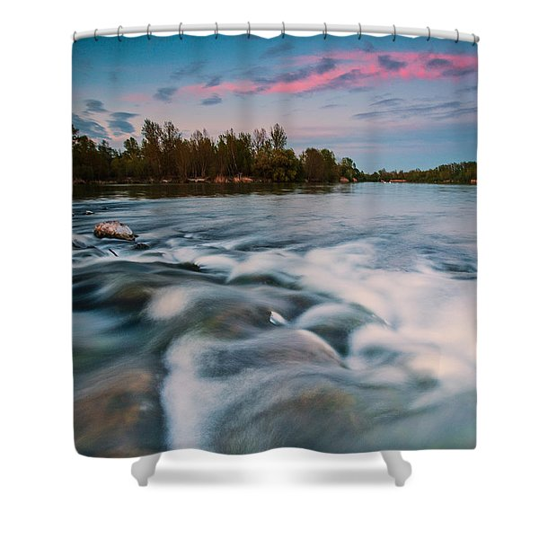 Peaceful evening Shower Curtain by Davorin Mance