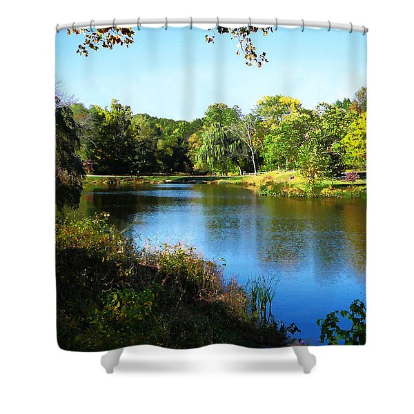 Peaceful Lake Shower Curtain by Susan Savad