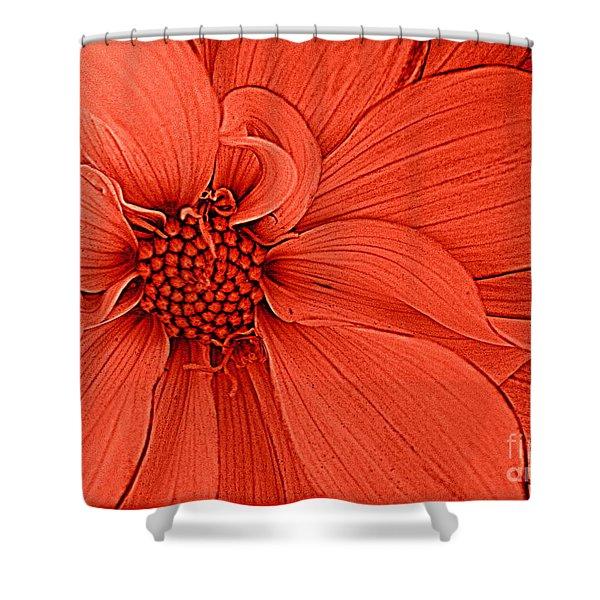 Peach Blossom Shower Curtain by Photographic Art and Design by Dora Sofia Caputo