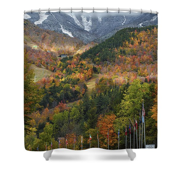 Peaked Shower Curtain by Mark Papke