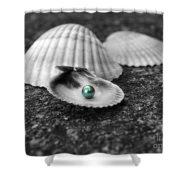 Pearls Of Wisdom I Shower Curtain by Jai Johnson