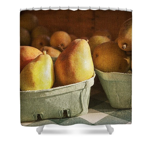 Pears Shower Curtain by Caitlyn  Grasso