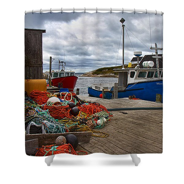 Peggy's Cove 18 Shower Curtain by Betsy C  Knapp