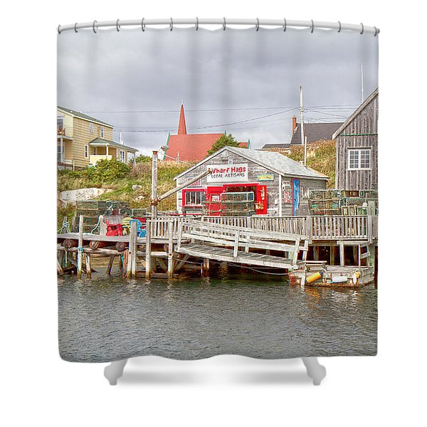Peggy's Cove 7 Shower Curtain by Betsy C  Knapp