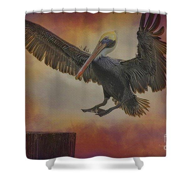 Pelican Grace Shower Curtain by Deborah Benoit