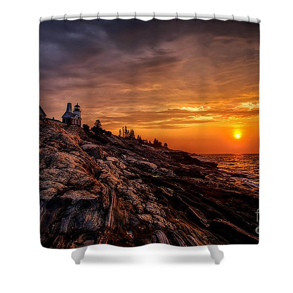 Pemaquid Sunrise  Shower Curtain by Jerry Fornarotto