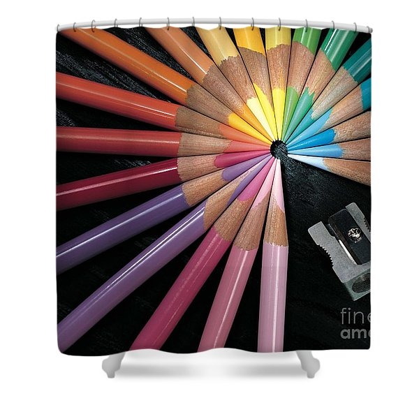 Pencils Shower Curtain by Gary Gingrich Galleries