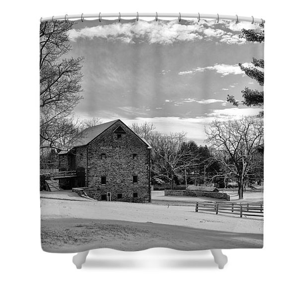 Pennsylvania Winter Scene Shower Curtain by Bill Cannon