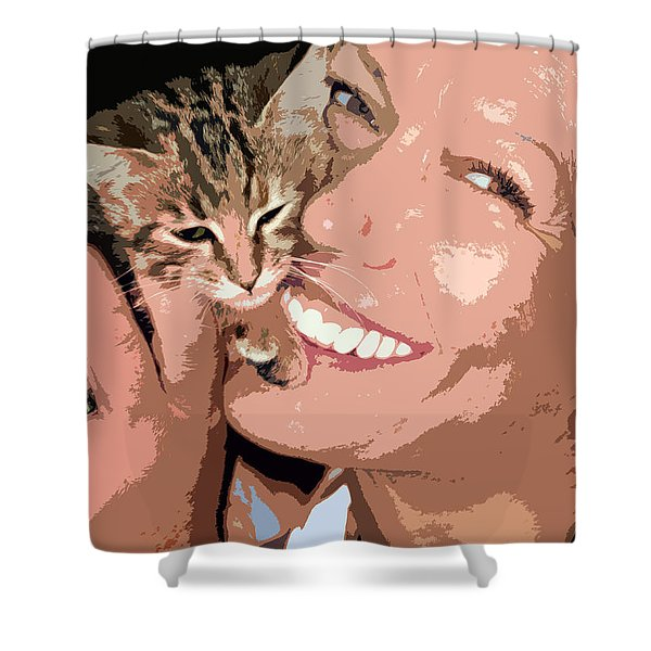 perfect smile Shower Curtain by Stylianos Kleanthous
