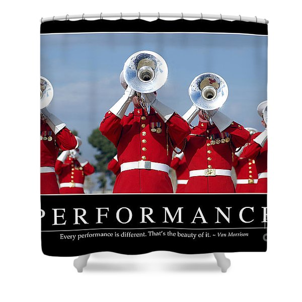 Performance Inspirational Quote Shower Curtain by Stocktrek Images