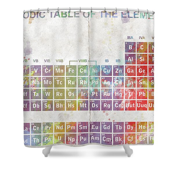 Periodic Table of The Elements Shower Curtain by Paulette B Wright