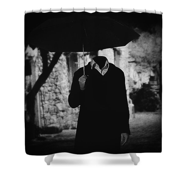 Pero a veces.. Shower Curtain by Taylan Soyturk