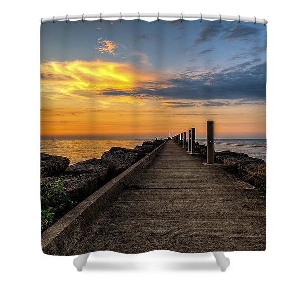 Perspective Light Shower Curtain by Mark Papke