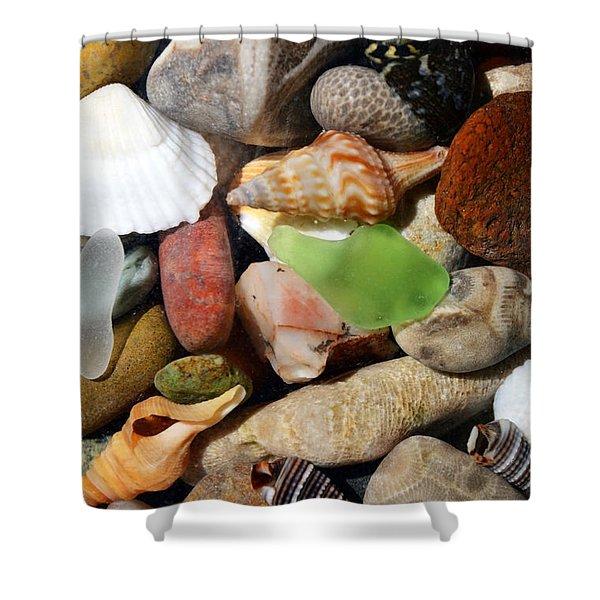 Petoskey Stones l Shower Curtain by Michelle Calkins
