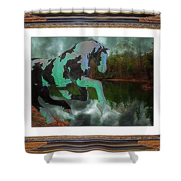 Phantom On The Lake Shower Curtain by Betsy C  Knapp