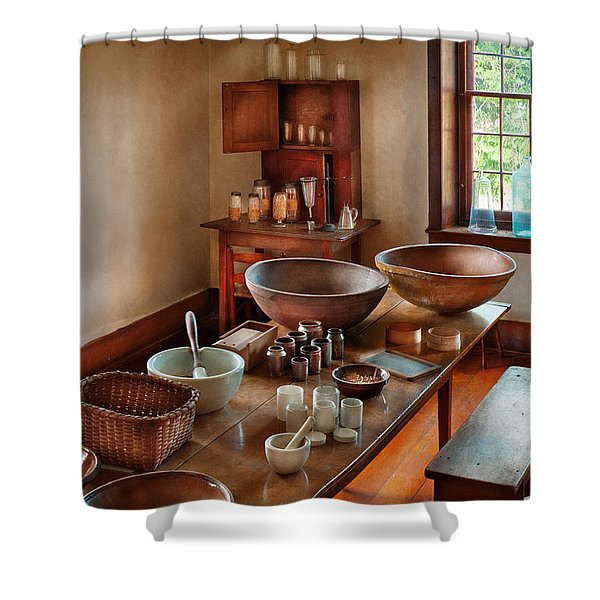 Pharmacist - Shaker Pharmacist Shower Curtain by Mike Savad