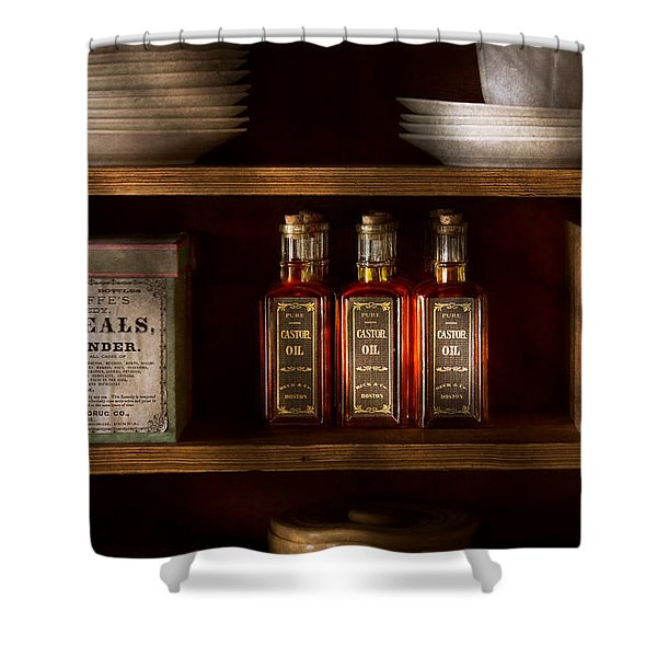 Pharmacy - For all your lubrication needs Shower Curtain by Mike Savad