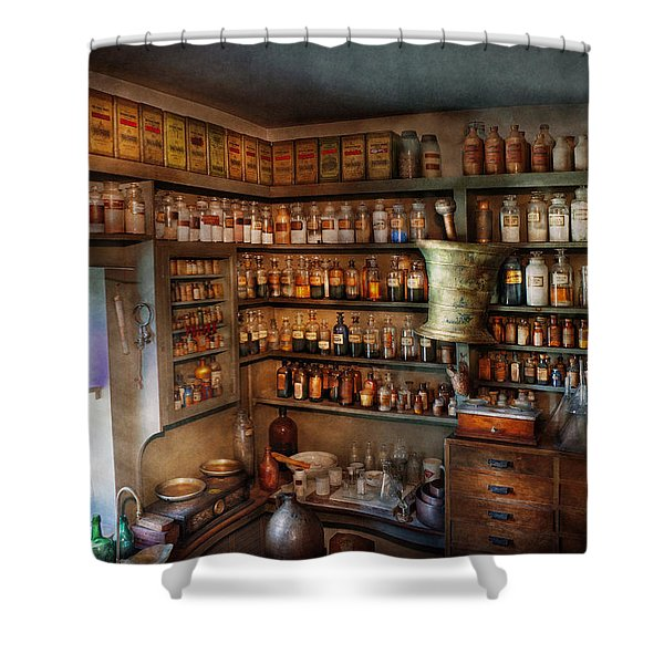 Pharmacy - Medicinal chemistry Shower Curtain by Mike Savad