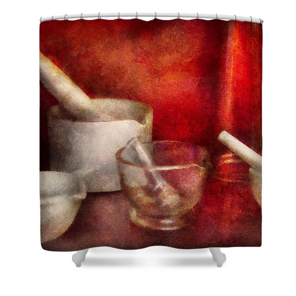 Pharmacy - Pestle - Endless Variety Shower Curtain by Mike Savad
