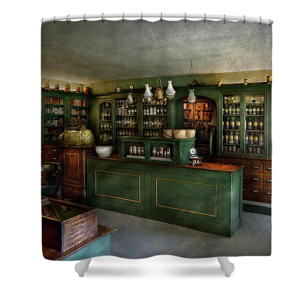 Pharmacy - The Chemist Shop  Shower Curtain by Mike Savad