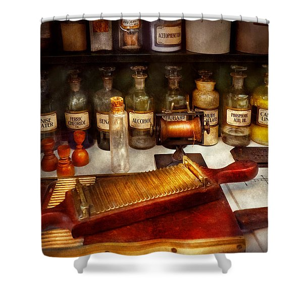 Pharmacy - The dispensary  Shower Curtain by Mike Savad