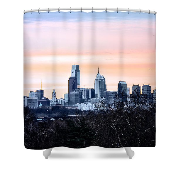 Philadelphia from Belmont Plateau Shower Curtain by Bill Cannon