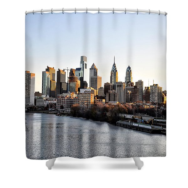 Philadelphia in the Morning Light Shower Curtain by Bill Cannon