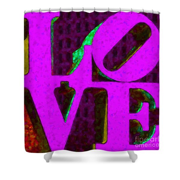 Philadelphia LOVE - Painterly v2 Shower Curtain by Wingsdomain Art and Photography
