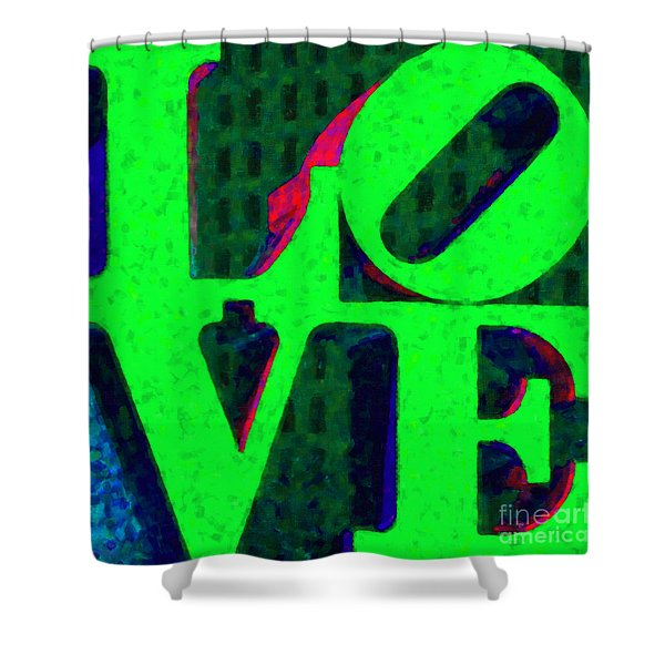 Philadelphia LOVE - Painterly v3 Shower Curtain by Wingsdomain Art and Photography