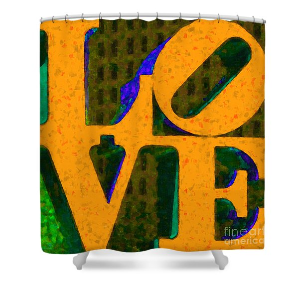 Philadelphia Love - Painterly V4 Shower Curtain by Wingsdomain Art and Photography