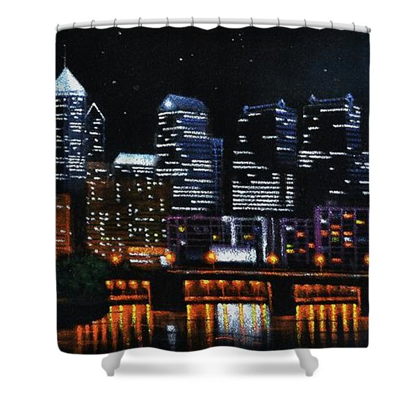 Phillie Shower Curtain by Thomas Kolendra