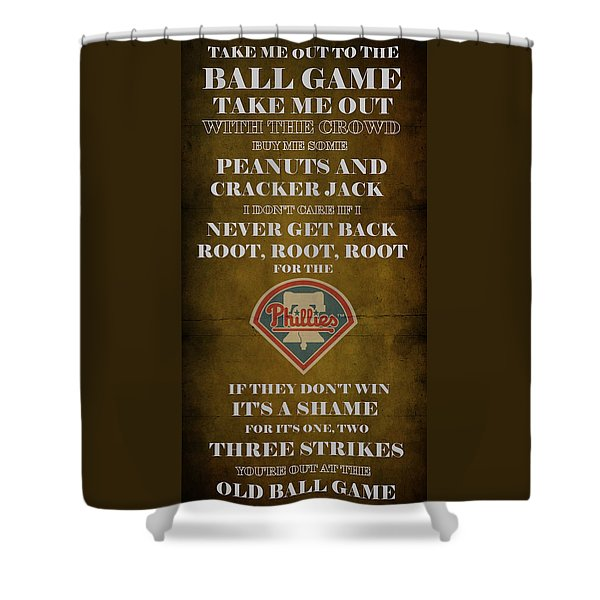 Phillies Peanuts and Cracker Jack  Shower Curtain by Movie Poster Prints