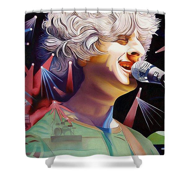 Phish Full Band Gordon Shower Curtain by Joshua Morton