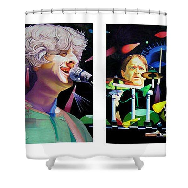 Phish Full Band Shower Curtain by Joshua Morton
