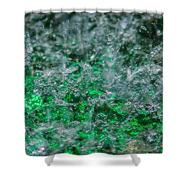 Phone Case - Liquid Flame - Green 2 - Featured 2 Shower Curtain by Alexander Senin