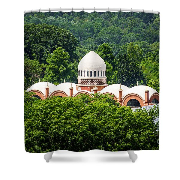 Photo of Elephant House at Cincinnati Zoo Shower Curtain by Paul Velgos