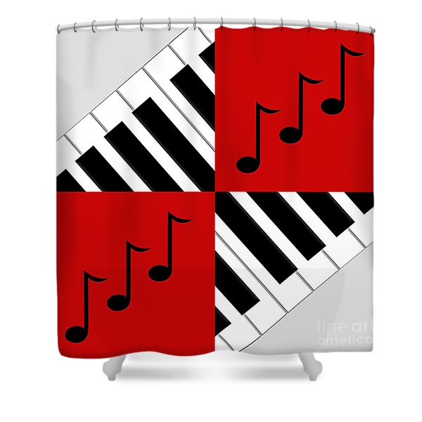 Piano Abstract 3 Shower Curtain by Andee Design