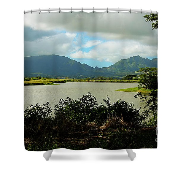 Picnic Spot Shower Curtain by Cheryl Young
