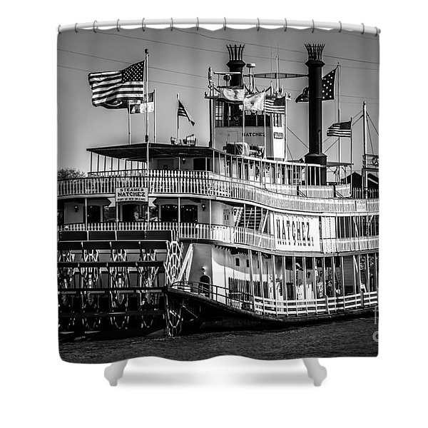 Picture of Natchez Steamboat in New Orleans Shower Curtain by Paul Velgos