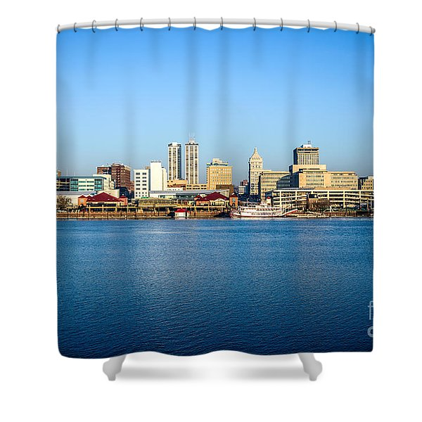 Picture Of Peoria Illinois Skyline Shower Curtain by Paul Velgos