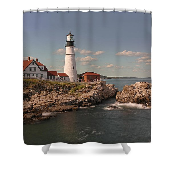 Picturesque Portland Head Light Shower Curtain by Juergen Roth