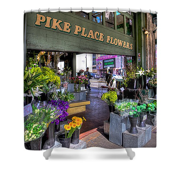Pike Place Flowers Shower Curtain by Spencer McDonald