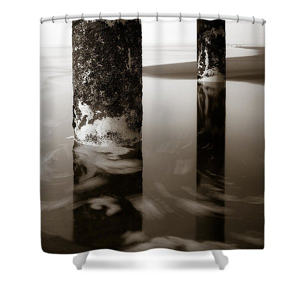 Pillars and Swirls Shower Curtain by Dave Bowman
